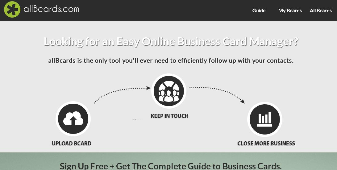 Finally an easy to use online business card manager reheart Images
