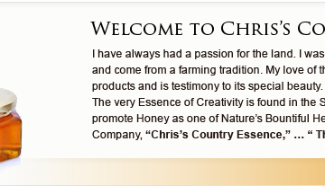 Bee Pollen Enriced Products from Chris's Country Essence